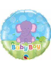 "Qualatex Baby Boy Elephant 18"" Foil Balloon"