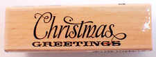 Christmas Greeting Quote Words Writing Studio G Wooden Rubber Stamp #Inv114