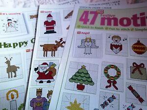 CROSS STITCH CHART 47 QUICK STITCH CHRISTMAS FESTIVE MOTIF CHARTS