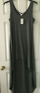 NEW Forever 21 DRESS Charcoal grey high low hem stretch Size L Large BNWT
