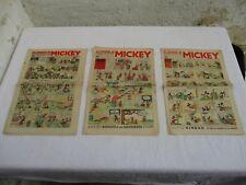 Le journal de Mickey l'hebdomadaire 1935/36 X 2 /37 et 1943 X 2