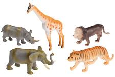 """5 Spielfiguren """"Zootiere"""" ca. 10cm Spielset Zoo Tierpark Elefant Giraffe Löwe .."""