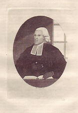 JOHN KAY original antique Gravure. Rev. Dr Thomas Davidson, fin de la..., 1792