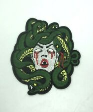 Medusa patch Embroidered Iron On Patches appliques transfers Badges Snake Large