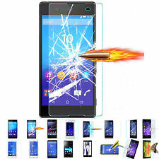 Premium Tempered Glass Screen Protector for Sony Xperia Z5 Z4 Z3 Z2 Z1 C3 E4 E3
