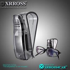 XRROSS Black Car Auto Sun Visor Glasses Sunglasses Card Ticket Holder Clip