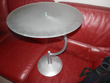 guéridon vintage table  design  pied metal dessus verre