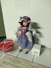 """Little Miss Muffet"" Danbury Mint 11"" Porcelain Doll, Storybook Collection, NIB"