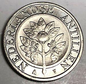 # C3029     NETHERLAND  ANTILLIES   COIN,     25  CENTS   2014  Unc.