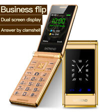 "A15 Keyboard Mobile Phone Flip Dual Screen 3.0""GSM 2 SIM Telephone For Elder"
