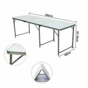 180 x 60 cm 6FT HEAVY DUTY FOLDING TABLE PORTABLE CAMPING GARDEN PARTY CATERING