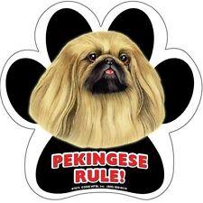 """Pekingese Paw Print Waterproof 5"""" Magnet New!"""