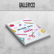 Personalised Teacher Teaching Assistant A5 Notebook End Of Term Gift Stationery