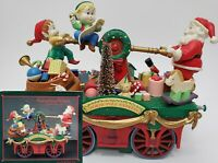 Enesco Keeping Santa On Track North Pole Express Christmas Action Musical 1993