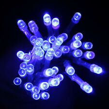 Blue 40-LED 13ft Battery Operated Diwali Wedding Fairy String Lights Lamp