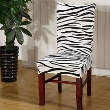 Black & White Zebra Print Dining Room Chair Cover Slipcover