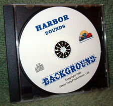 "56015 MODEL RAILROAD SOUND EFFECTS AUDIO CD ""HARBOR SOUNDS"""