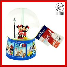 More details for disneyland paris mickey minnie mouse snow globe light up eiffel tower souvenir