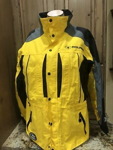 Pure Polaris Men's Medium Snowmobile Jacket Coat Sled Black Yellow