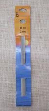 Gioco ferri - Ferri doppia punta - Ferri a 5 - mm 2.00  cm 20 - Pony art 36612