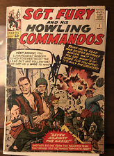 Sgt.Fury & His Howling Commandos 1 1st Nick Fury Signed Stan Lee & Jack Kirby 💎