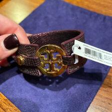 Authenticity Guaranteed NWT Tory Burch Skinny Logo Double Snap Bracelet