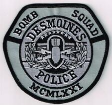 subdued Des Moines Police, Iowa - Bomb Squad - capital city patch
