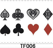 small Temporary Tattoo Waterproof Removable poker Spades Stickers Body Art Tatoo