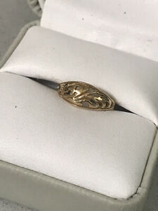 10k Yellow Solid Gold Filigree Toe Ring 1.0g