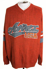 Vintage Avirex Varsity Mens 2XL XXL Wool Blend Knit Sweater Embroiered Logo