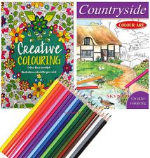 Adult A4 Colour Therapy Anti Stress Creative Colouring Book Motives & Mandalas