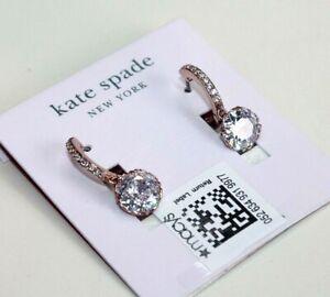 Kate Spade New York Earrings Rose plated Crystal Hinged women's