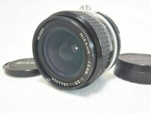 Near Mint- NIKON Ai Nikkor 28mm f/3.5 Wide Angle MF Prime Lens Japan 777
