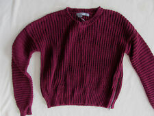 360Sweater Milan Chunky Pullover Sweater-Side Zipper-Boysenberry-Small -NWT $184