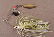 Bass Fishing Lure DR Custom Spinnerbait, 1/4 oz. 1 Colorado & 1 Willowleaf Blade