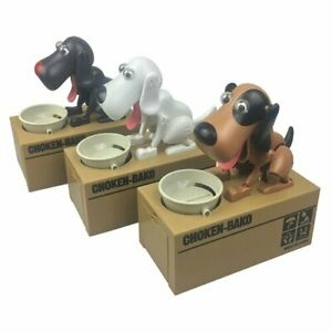 Battery Powered Adorable Stealing Dog Designed Mechanical Coin Money Bank II