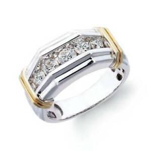 Two-tone Men's Diamond Ring Engagement Wedding Ring Party Birthday Gift
