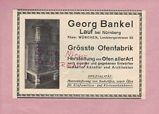 LAUF NÜRNBERG, Werbung 1913, Georg Bankel Ofen-Fabrik Kachel-Öfen