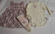 Gymboree Oodles Of Poodles Girls 3-6 Month Dress Bodysuit Tights Outfit NWT