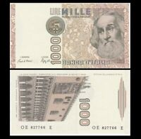 ITALY 1000 (1,000) Lire, 1982, P-109e, Marco Polo, UNC World Currency