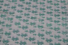 5 Yard Hand Block Print Handmade Cotton Indian Natural Sanganeri Print Fabric