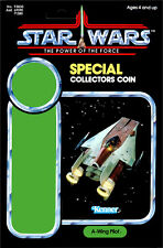 STAR WARS: POWER OF THE FORCE A-Wing Pilot (1985) Repro Kenner Cardback