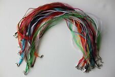 Lot of 27 craft organza necklaces different colors