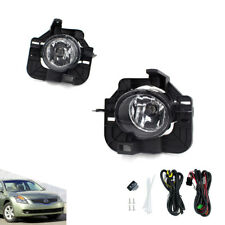 For 2008 2009 NISSAN ALTIMA Clear Fog Light Lamp Kit Wiring+Switch Halogen Bulb