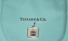 8aacfb41d83 NEW Tiffany & Co Silver Lexicon Shopping Bag Charm Pendant 4 Bracelet  Necklace
