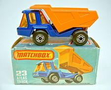 Matchbox SF Nr.23B Atlas blau & orange verchromte Einrichtung top in Box