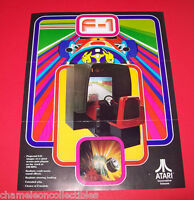 F-1 By ATARI 1976 ORIGINAL VIDEO PROJECTED ARCADE GAME ADVERTISING SALES FLYER