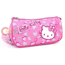 Hello Kitty Pink Leopard Pencil Case Zippered Cosmetic Bag