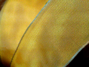 """Vintage French Viscose Rayon 1.5"""" Ribbon Wire 1yd Made in France"""