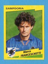 PANINI CALCIATORI 1996/97-Figurina n.308- FRANCESCHETTI - SAMPDORIA -NEW